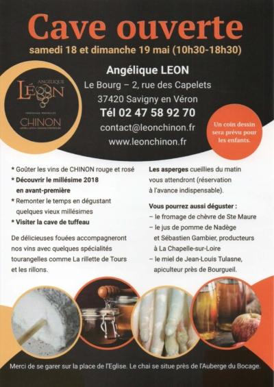 Cave ouverte chez Angélique Léon, vigneronne en AOC Chinon